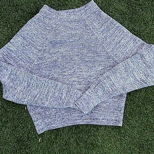 fp cropped grey knit sweater